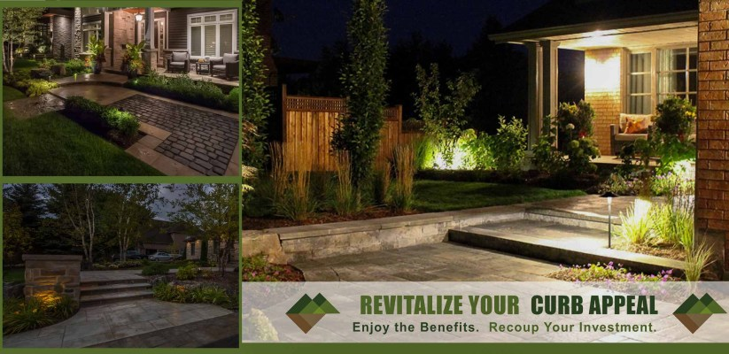 Front Landscaping Renovation. Sample of nicely redone front yard adding to home value
