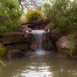 Watergarden using boulders to create natural look