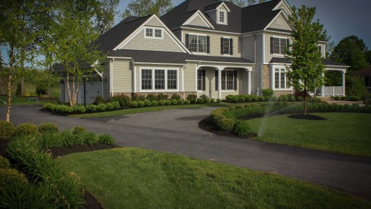 Landscape Renovation Frontyard makeover in Pittsford NY