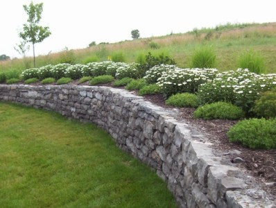 Natural Stone Retaining wall Pittsford NY