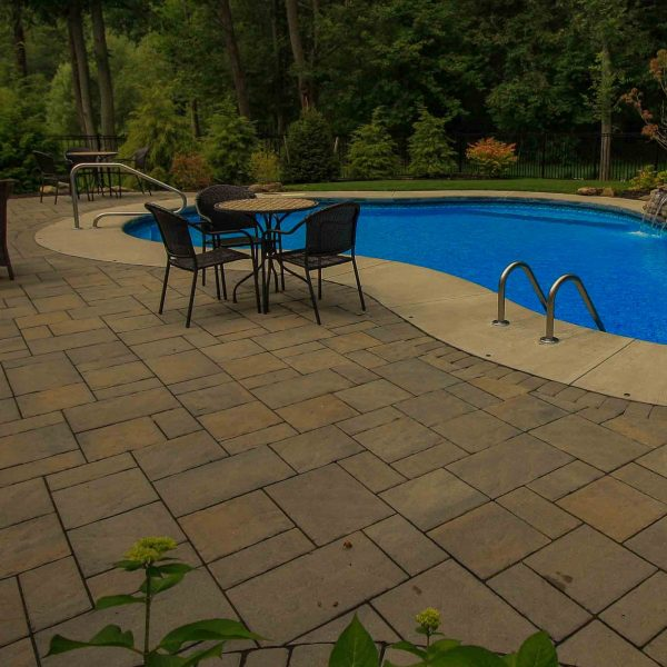 Inground Pool design and installation project example in Rochester NY