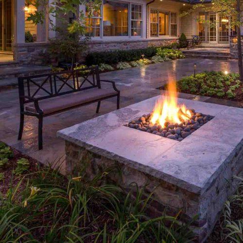 Landscape Design. Fire Feature Example