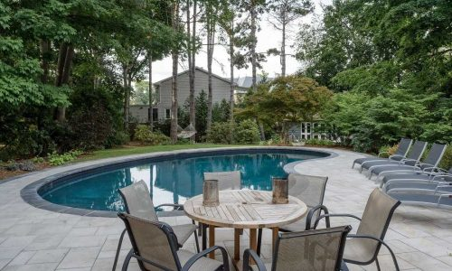 Pool costs & Options Stone Coping upgrade example