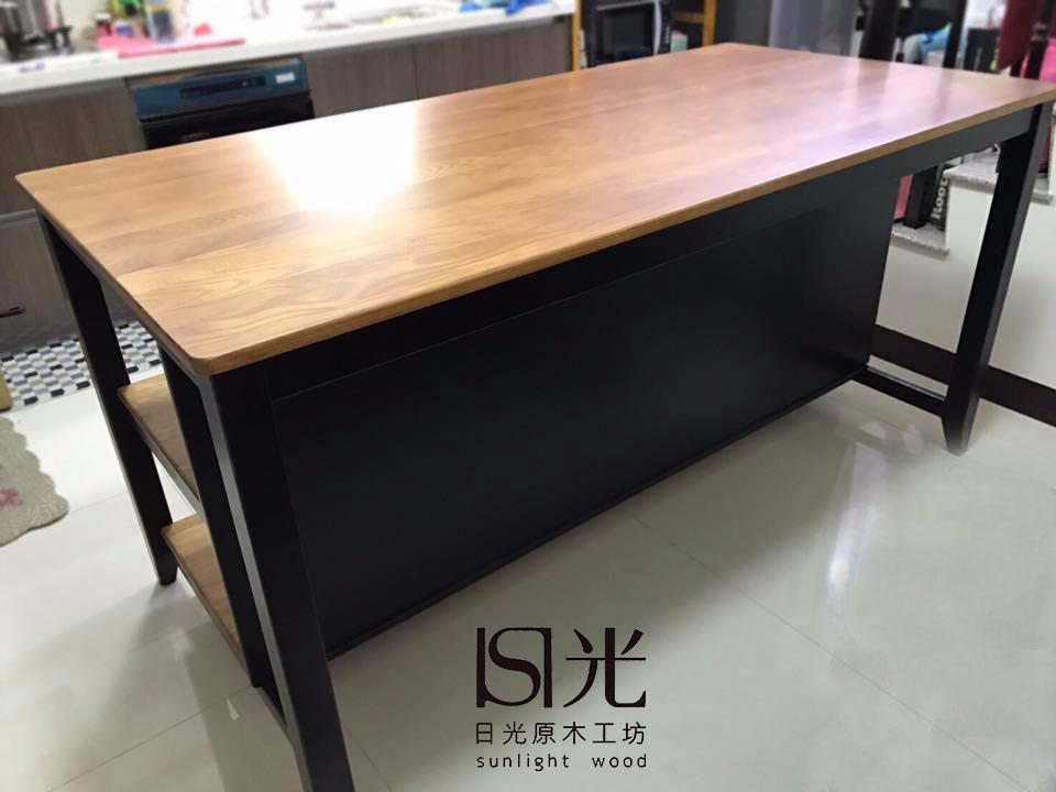 簡約中島桌 - 日光原木工坊
