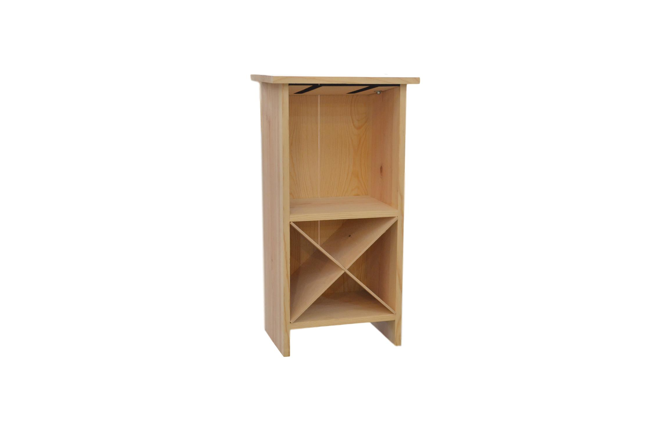 wooden end table wine rack