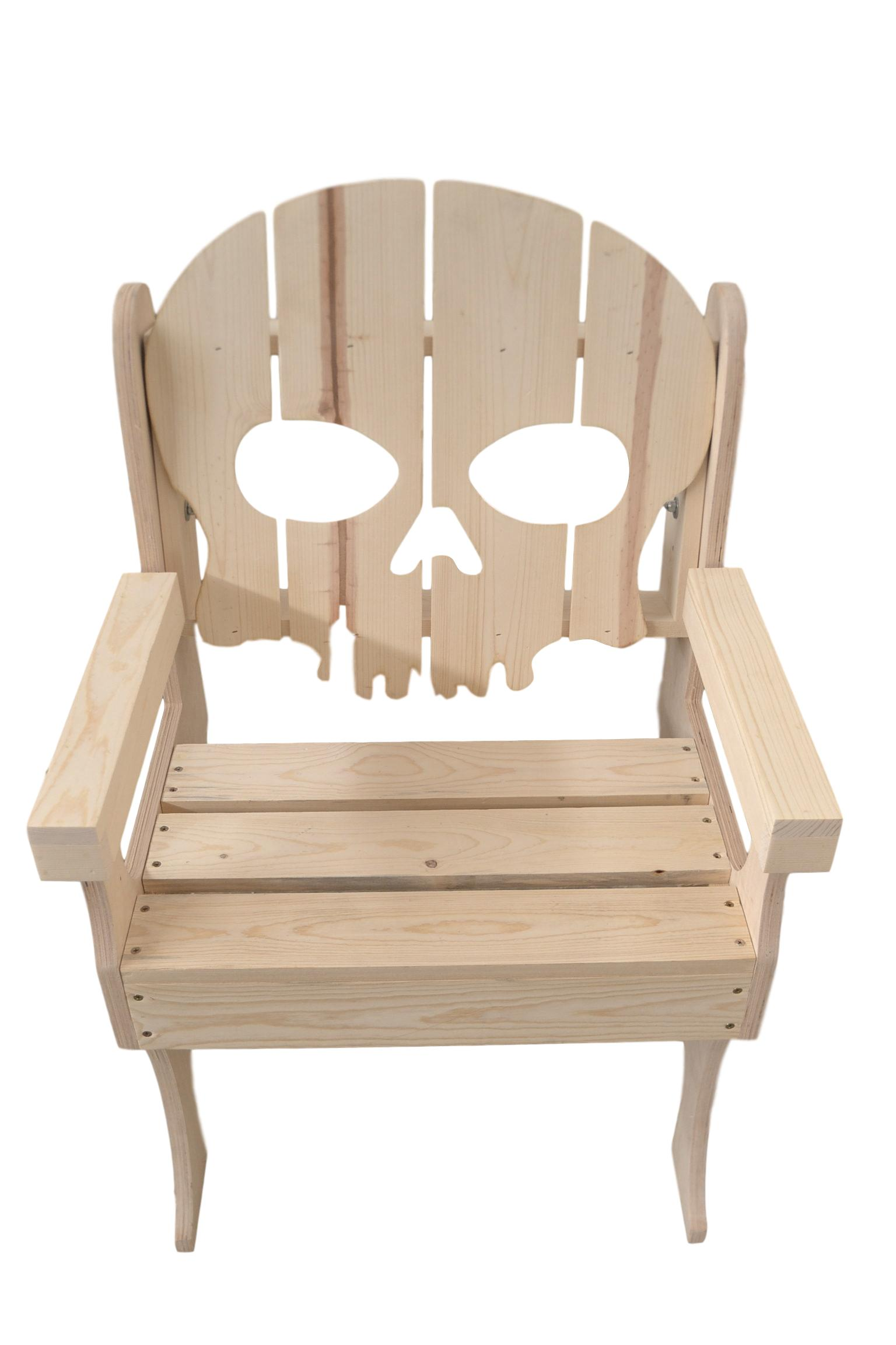 wooden skull chair desk for bedroom backed poole sons inc
