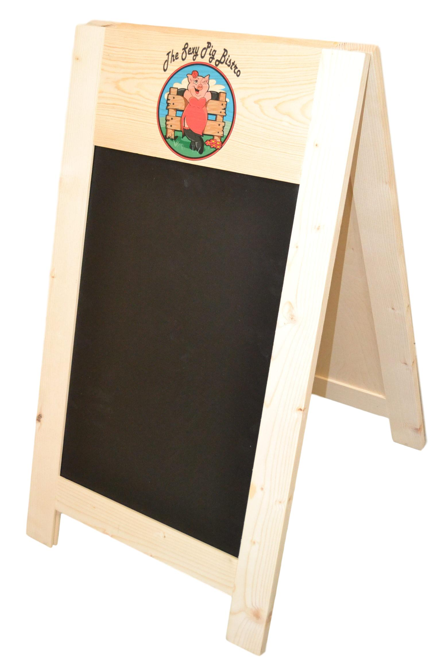 wooden a frame chalkboard
