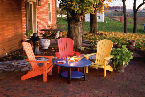 adirondack style chairs recycled poly various colors wood thru the ages