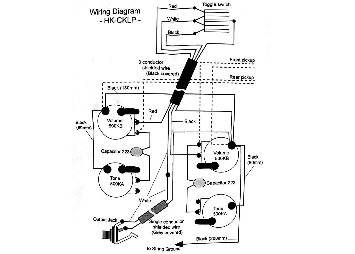 Wiring Kit For Lp Type Guitars With Diagram Ivory