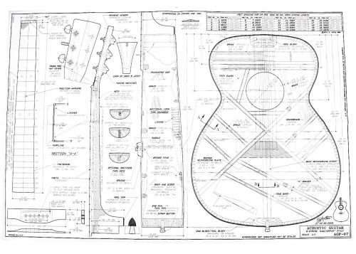small resolution of full size blueprint 6 string auditorium size martin ooo style 24 9 scale for guitar with 14 frets on neck