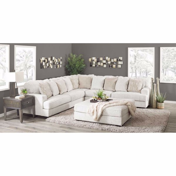 ashley 3pc sectional rawcliffe parchment
