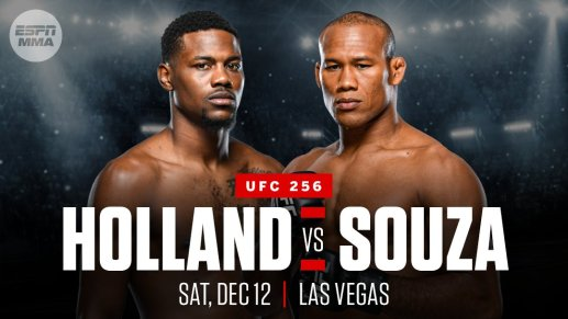 Holland vs Souza Booked For UFC 256 | Woodward Sports Network