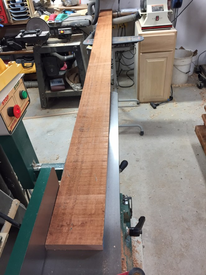 Rough sawn mahogany