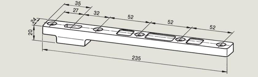 Bottom Strap 7421   Woodwood Door Controls