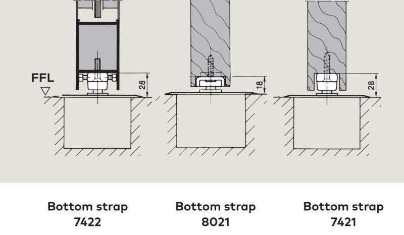 Bottom Strap rebated fixing | Woodwood Door Controls
