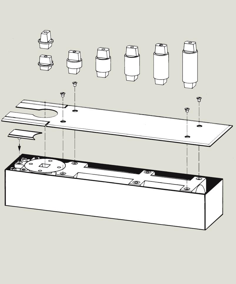 Floor Spring Pivot Extension options   Woodwood Door Controls