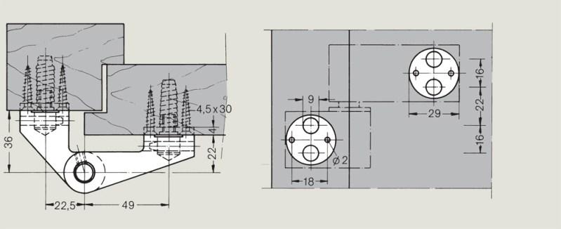 LM Pivot Hinges for over rebated doors | Woodwood Door Controls