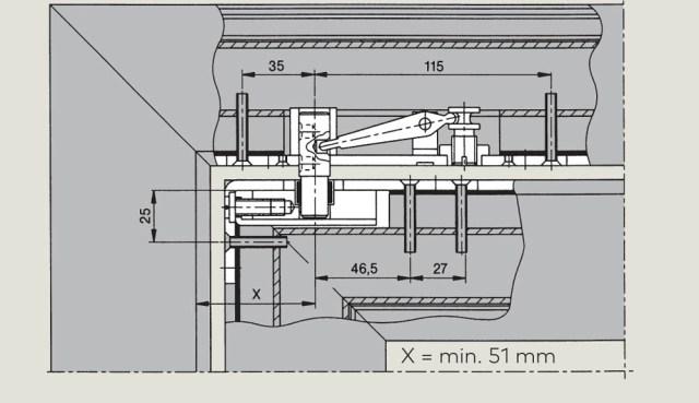 Top centre 7461 | Woodwood Door Controls