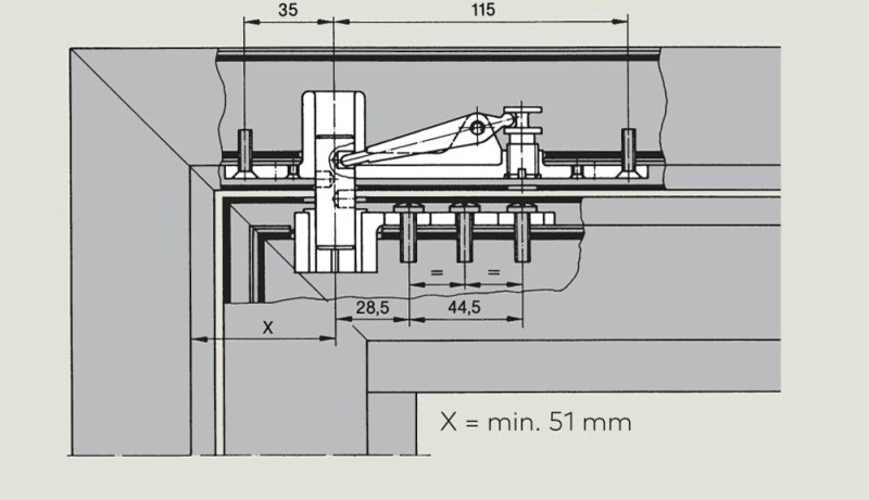 Top centre 8067 | Woodwood Door Controls