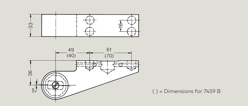 dormakaba 36mm offset door strap | Woodwood Door Controls