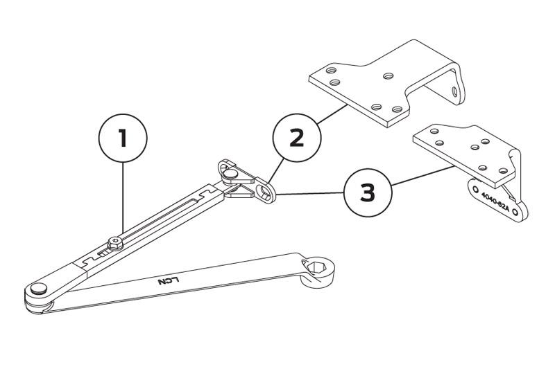 LCN 4040XP Regular arm 4040XP-3077 | Woodwood Door Controls