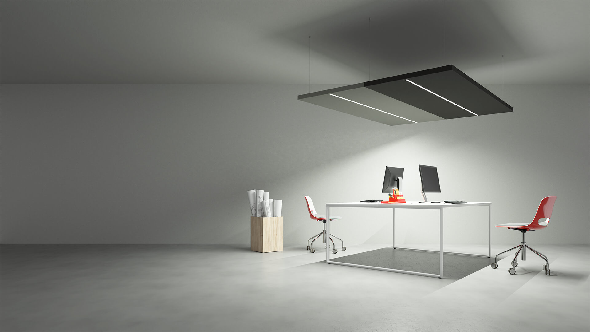 Caruso Nuvola LED Line Acoustic Lighting | Woodwood Group
