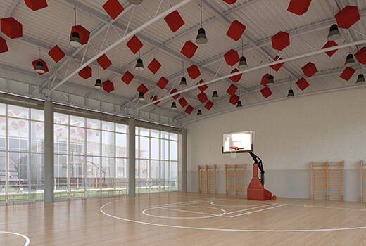 Sports Hall Acoustics   Woodwood Group