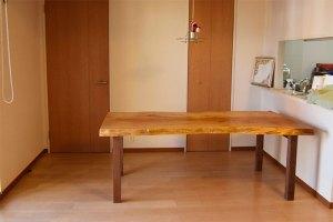 トチ 一枚板 天板 無垢テーブル