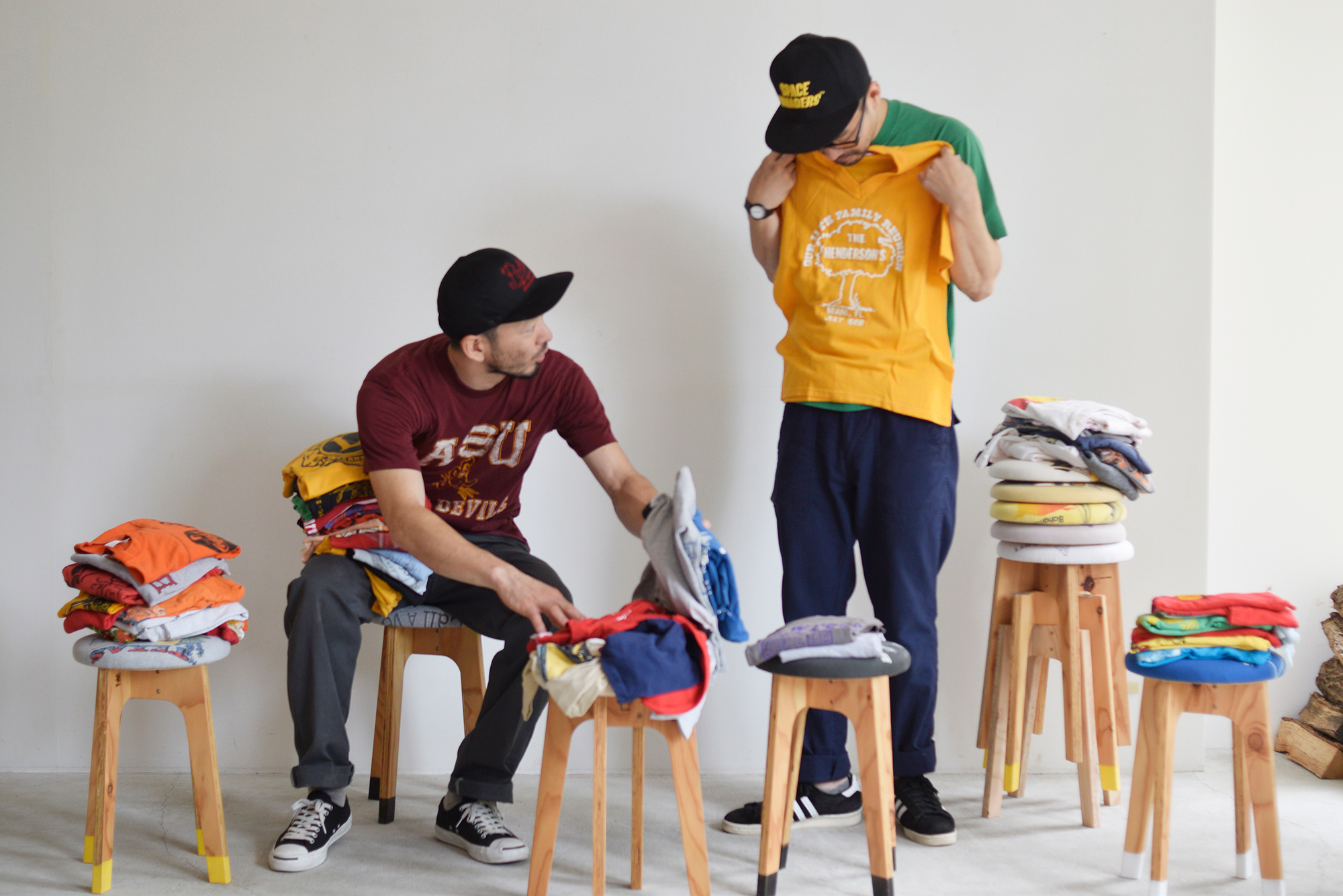 old clothes stool 古着 Tシャツ スツール