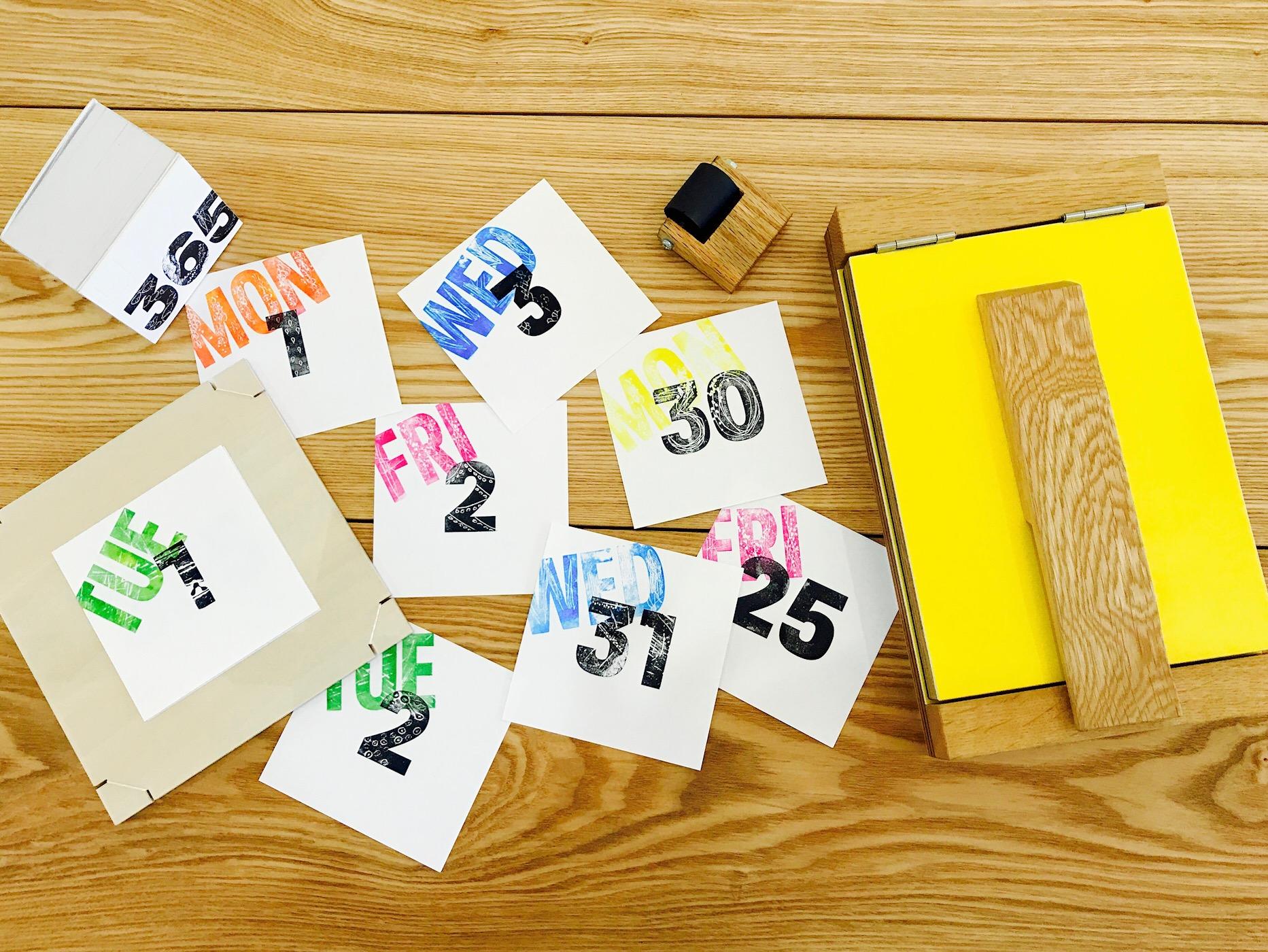 『紙で紙に刷る!?紙活字®ワークショップ』