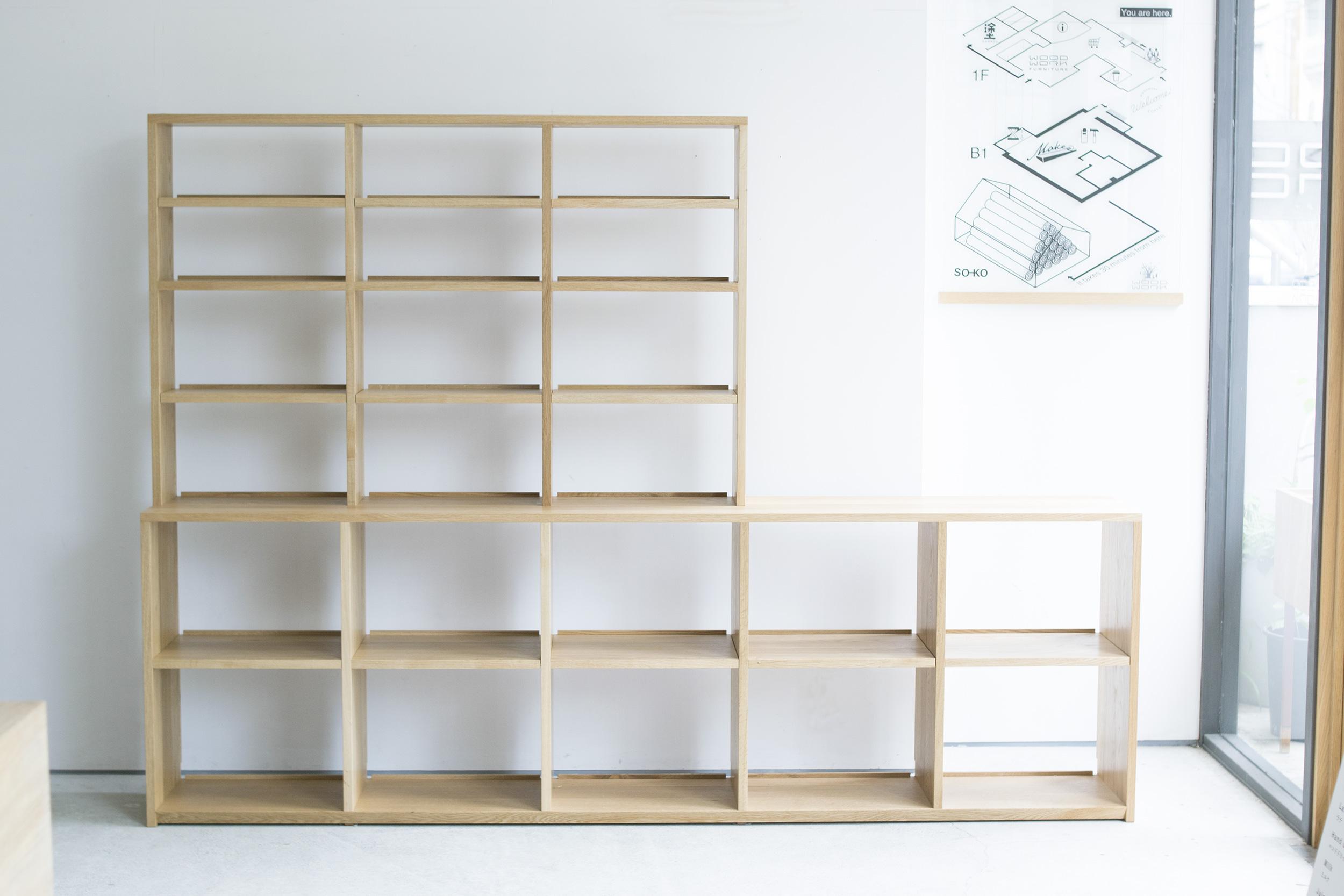 オーダー家具 ナラ材で製作したTANA本棚