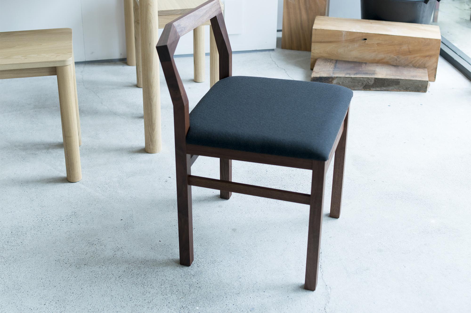 PICO chair ピコチェア ウォールナット材+グレー