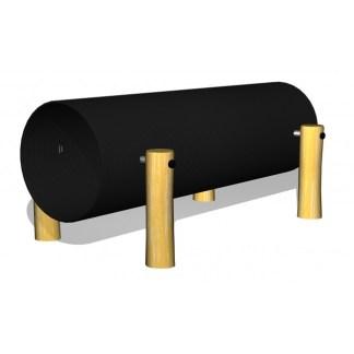 Woodwork AB - Tunnel tillverkad av ppc-plast och robinia som kan användas fristående eller som del i hinderbana eller lekplats.