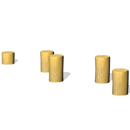hoppstubbar, lekplats, utemiljö, balans, woodwork AB