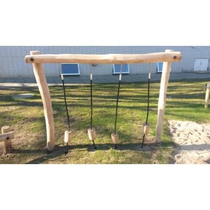 G2961 Woodwork AB Robiniaställning med balansklossar i rep
