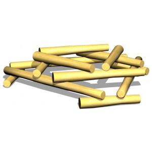 Woodwork AB G2976 Vedstapel i robinia som passar bra i hinderbana eller fristående