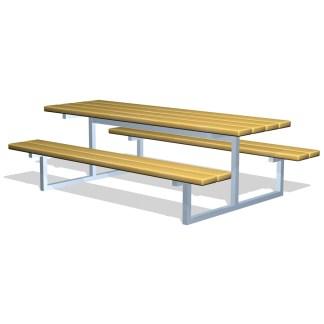 Woodwork AB-bord-bänkset i trä & Stål