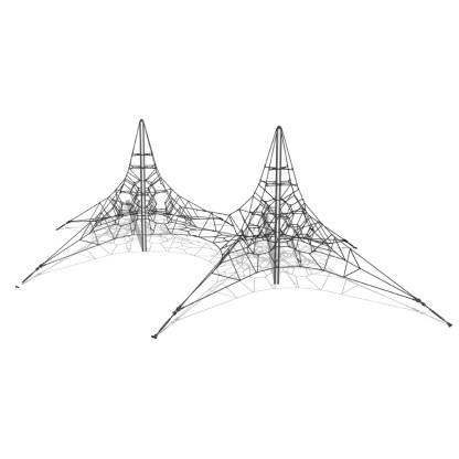 Woodwork AB-dubbel klätterpyramid i stål