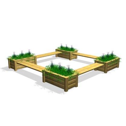 Woodwork AB-ChillOut-4 bankar-blomlådo