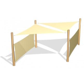 G26406 2 solsegel inkl sidosegel från Woodwork AB