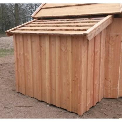 G9030 Vedskjul/förvaringsrum till multihus från Woodwork AB