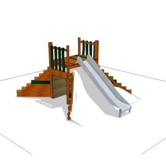Lekområde med rutschkana från Woodwork AB