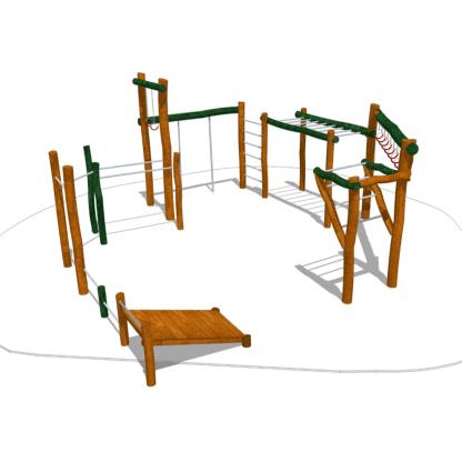 Woodwork AB-Utegym/träningsstation i robinia