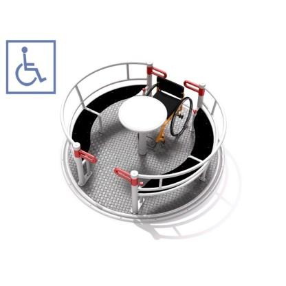Karusell anpassad för rullstol
