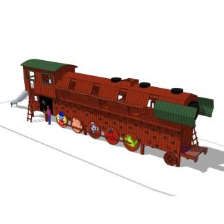 Klätter- och lekredskap Loket från Woodwork AB