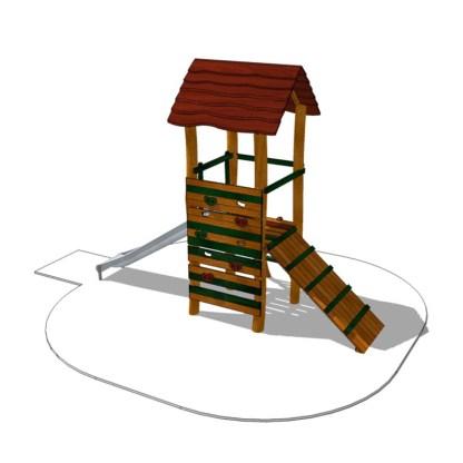 Klättertorn med rutschkana-Woodwork AB