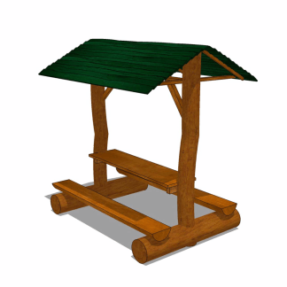 Bord-bankset med tak-Woodwork AB