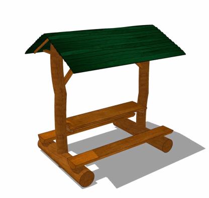 Bord-bankset med tak-WoodworkAB
