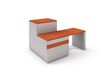 Bänk i betong och trä-Woodwork AB
