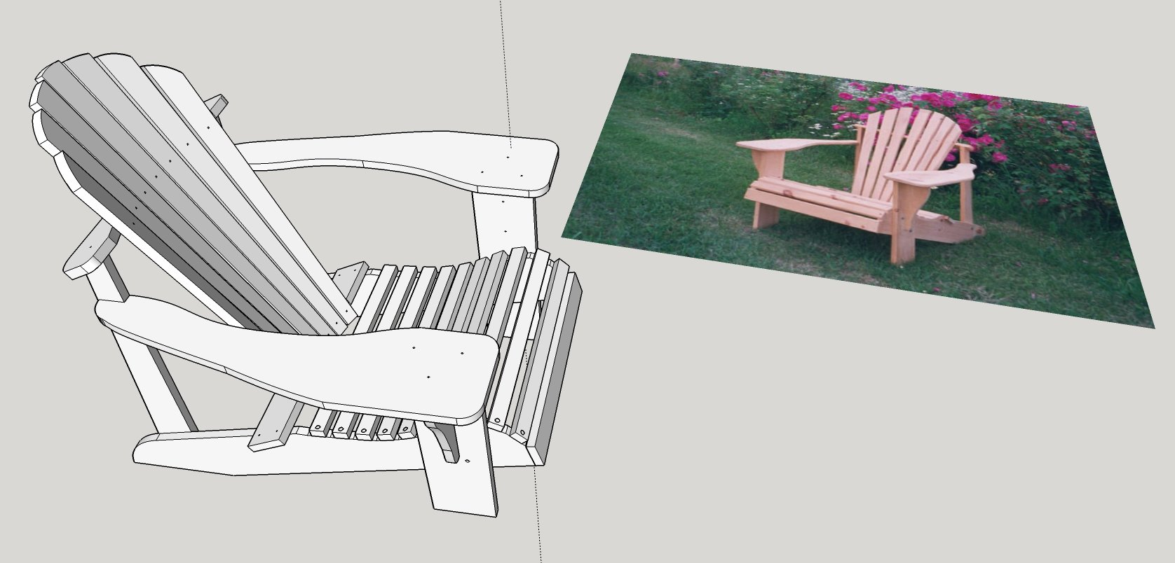Adirondack Chair Plans Make Woodworking Plans With Sketchup Woodwork City Free